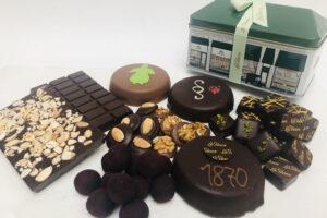 En chokolade bid af La Glace